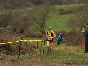 Heidi Treganza in the South West Cross Country Champs