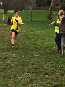 Jayne Wade in the Hants League XC at Prospect Park