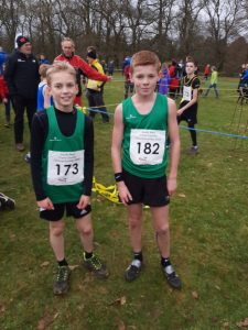 Daniel Couch and Oscar Ewan Mathews at the South West XC Champs