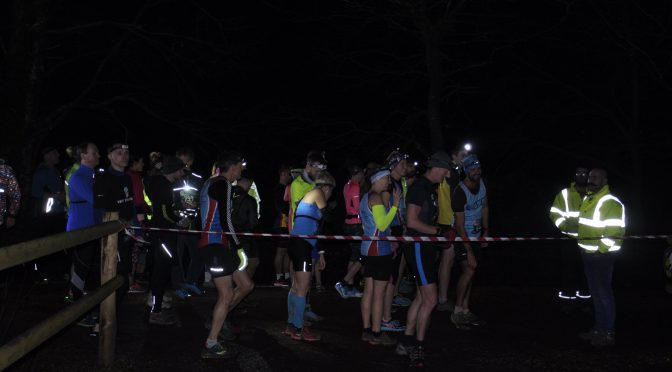 Mitch Griffiths lines up for the start of the Dark Moors 10 Mile race
