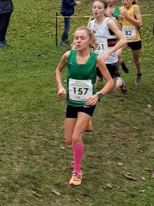 Erin Wells in the South West XC Champs