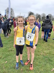 Isabel Cherrett and Esmee Hurst Atkins at the South West XC Champs