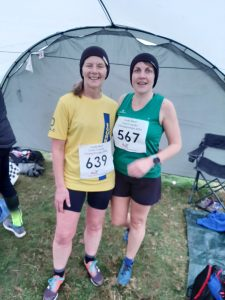 Jayne Wade and Kirsty Drewett at the South West XC Champs