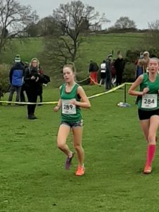 Martha Preece in the South West XC Champs