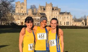 Nikki, Harriet and Holly at the Wessex League XC at Canford School