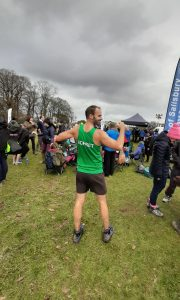 Rich Brawn representing Dorset at the South West XC Champs