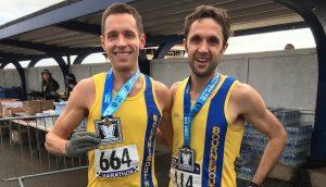 Stu Nicholas and Jez Bragg after Portsmouth Coastal Marathon