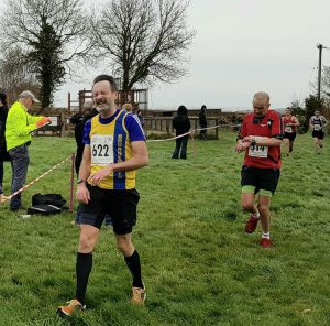 Adrian Townsend finishing the Blackmore Vale Half Marathon