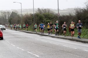 Andy Gillespie in action at the Newquay 10k