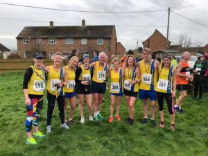 Bournemouth AC team at the Blackmore Vale Half Marathon
