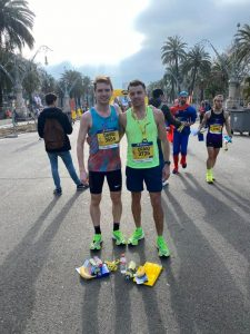 Dave Long and Craig Palmer after the Barcelona Half Marathon