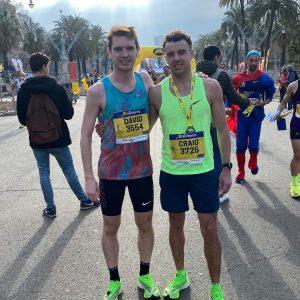 Dave Long and Craig Palmer at the Barcelona Half Marathon