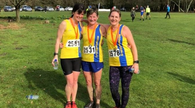Bournemouth AC ladies at the Hope Rising Tyrrell Trail Run
