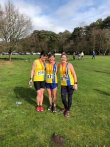 Nikki, Louise and Caroline after the Hope Rising Tyrrell Trail 10k