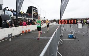 Rob Spencer finishing the Chichester 10k