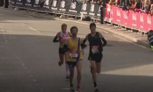 Ant Clark in action in the Vitality Big Half