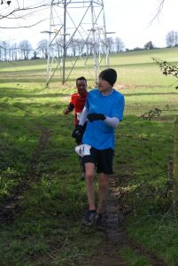 Damian Boyle taking on the Up on the Downs Half Marathon