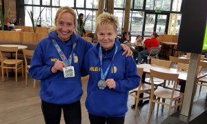 Heather Khoshnevis and Helen Ambrosen went to Dorney Lake Timed Event