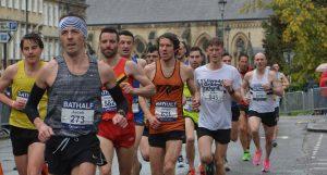 Jacek Cieluszecki in the Bath Half Marathon