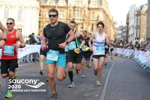 Ollie Stoten taking on the Cambridge Half Marathon