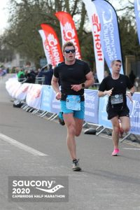 Ollie Stoten powers on in the Cambridge Half Marathon