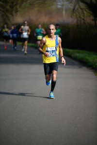 Sanjai Sharma in action at the Bath Half Marathon