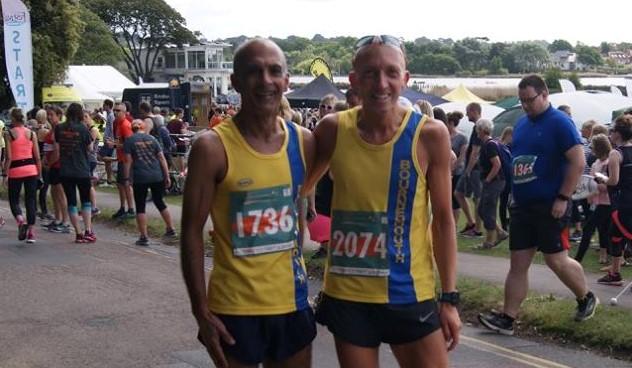 Sanjai Sharma and Graeme Miller in the Wokingham Half Marathon