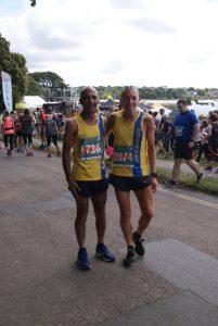 Sanjai Sharma and Graeme Miller at the Wokingham Half Marathon
