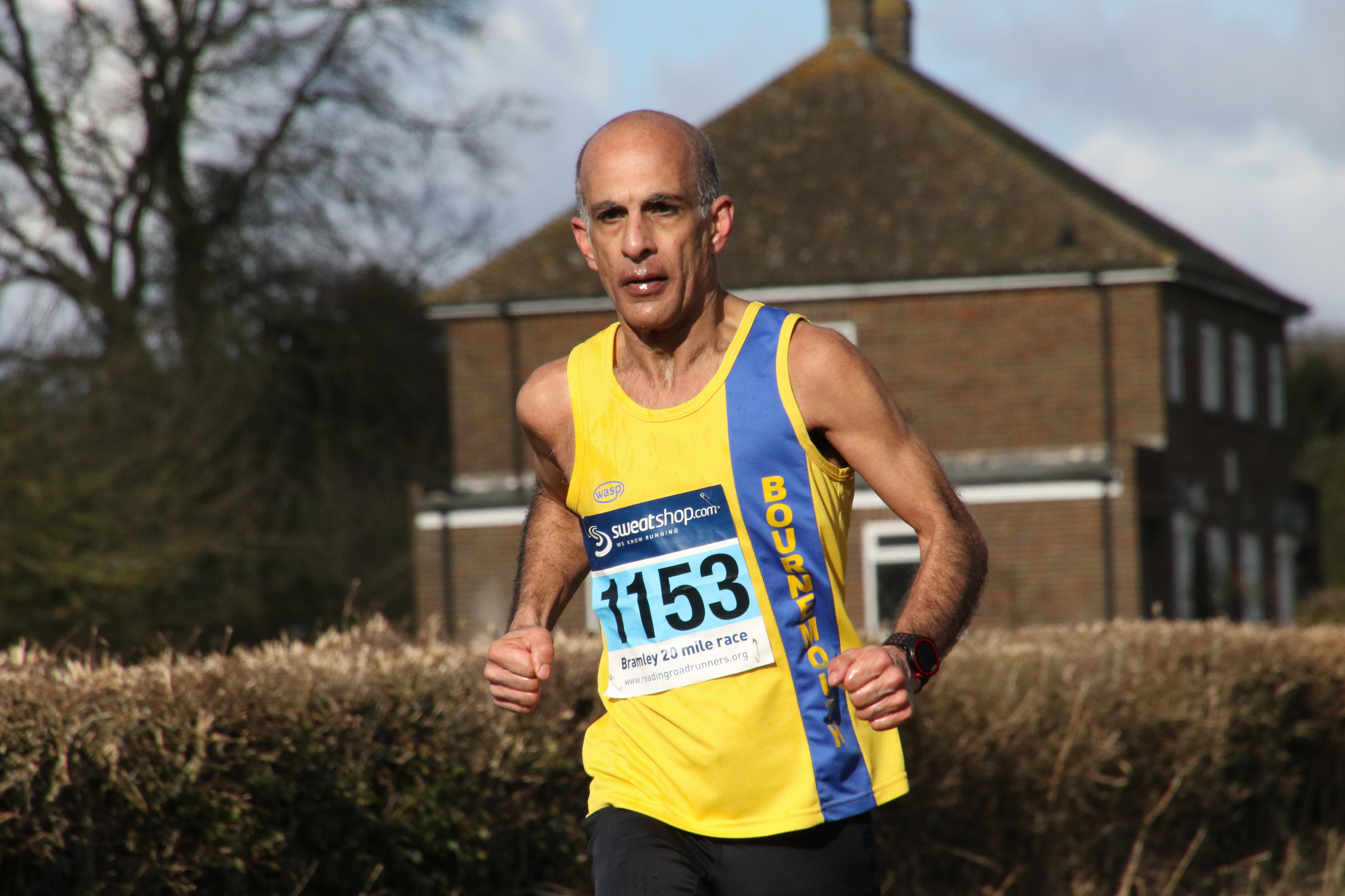 Sanjai Sharma in the Wokingham Half Marathon