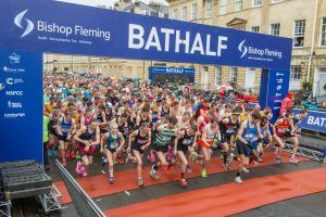 Start of the Bath Half Marathon