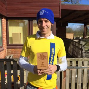 Stu Nicholas with 3rd male trophy at Wimborne 20