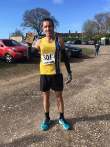 Stu Nicholas after taking 3rd place at Wimborne 20