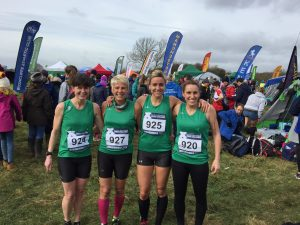 Dorset Senior Women's team before UK Inter Counties XC race