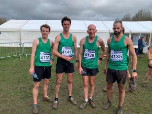 Dorset Senior Men's team at UK Inter Counties Cross Country