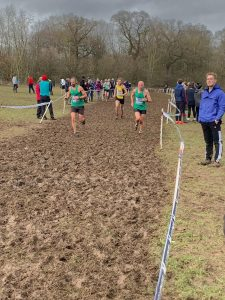 Rich and Bruce in the UK Inter Counties XC