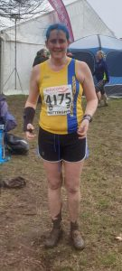 Annette Lewis after the National Cross Country Championships