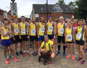 Bournemouth AC team line up for a road race