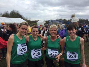 Dorset Senior Women's team at UK Inter Counties XC