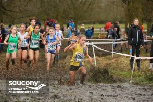 Erin Wells in the National Cross Country Championships
