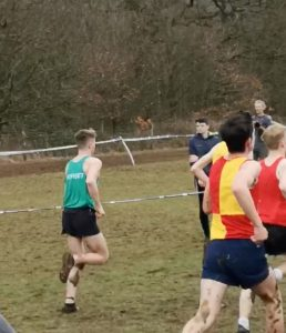 Jasper Todd in the Uner 17 Men's race at the UK Inter Counties XC