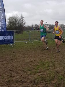 Oliver James in the Uner 17 Men's race at the UK Inter Counties XC