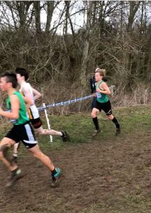 Stanley Peters in the Under 13 Boys race at the UK Inter Counties XC