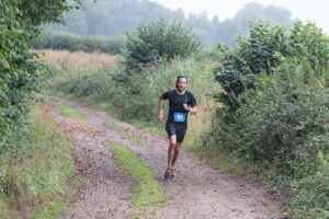 Pete leads the way in the Dorset Ooser Marathon