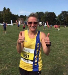 Estelle Slatford after the New Forest Half Marathon