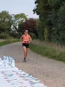 Louise Broderick during the New Forest Marathon