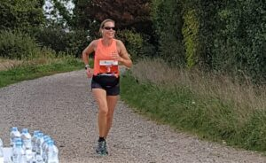 Louise Broderick in the New Forest Marathon