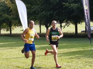 Rich Brawn and Neil Sexton finishing the New Forest Half Marathon
