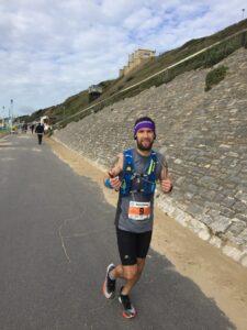 Trev gives his all as makes his way along the promenade