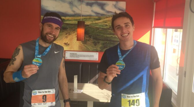 Trev Elkins and Harry Smith at Run to the Sea Ultra Marathon