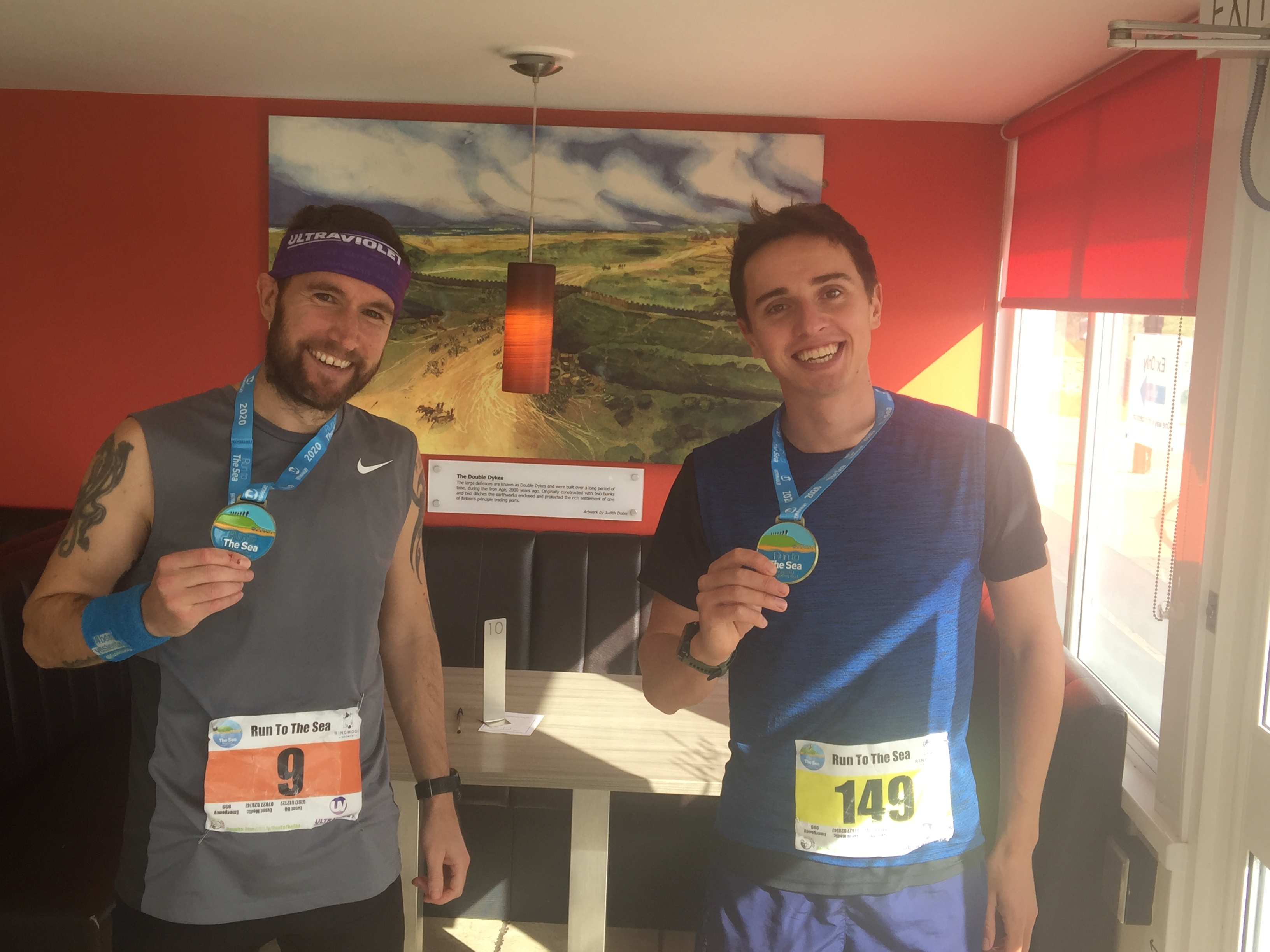 Tidy performances from Harry and Trev at Run to the Sea Ultra